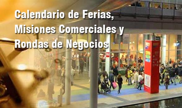 Calendario de Ferias, Misiones Comerciales y Rondas de Negocios – 2014