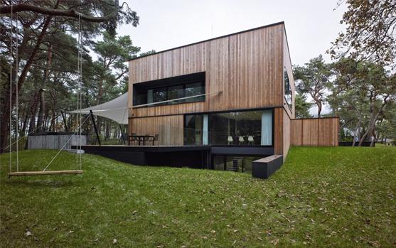 Revestimiento de madera sobre concreto