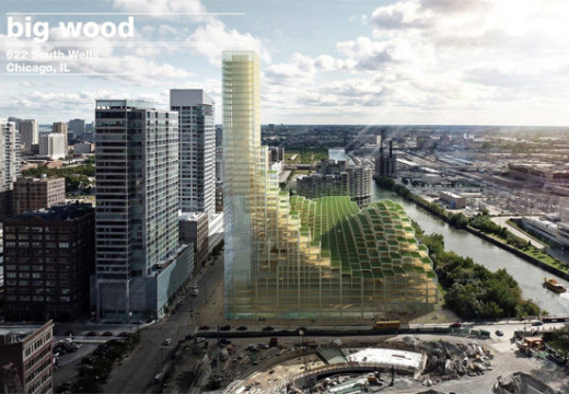 """Edificios Sostenibles: en Chicago presentaron proyecto de """"Rascacielos de Madera"""""""