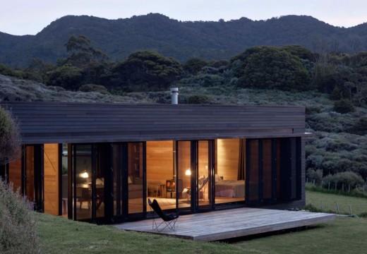 Casa de playa en Nueva Zelanda: estilo moderno,100% en madera