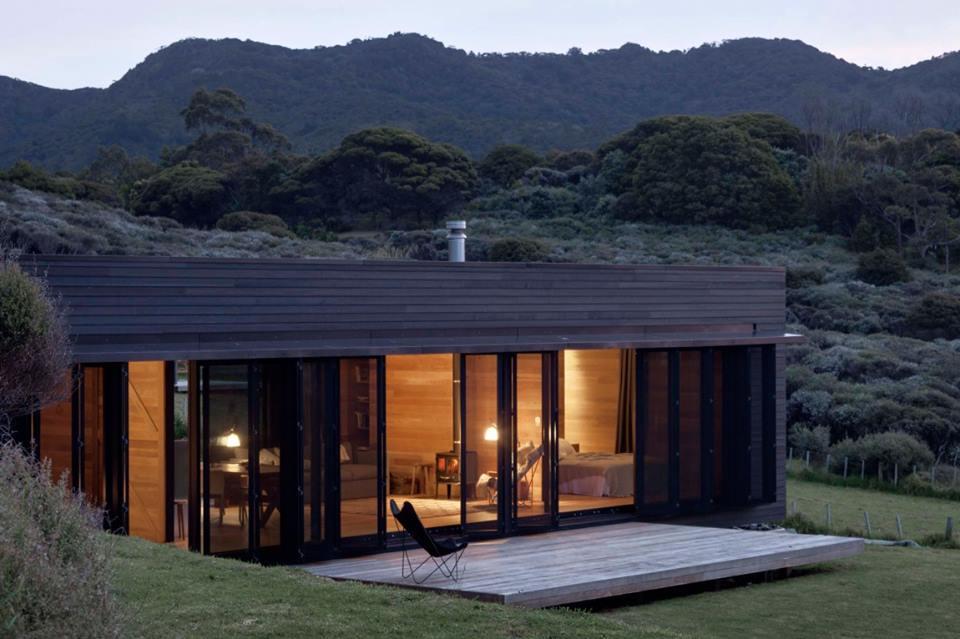 3d067c2c76a72 Casa de playa en Nueva Zelanda  estilo moderno100% en madera
