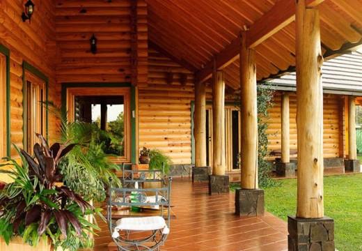Vivienda de alta calidad con madera en Argentina