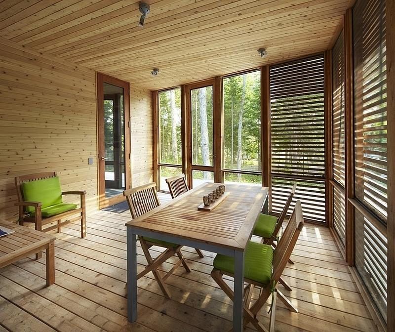 Arquitectura en madera moderna caba a de pinomadera y - Casas de madera de pino ...