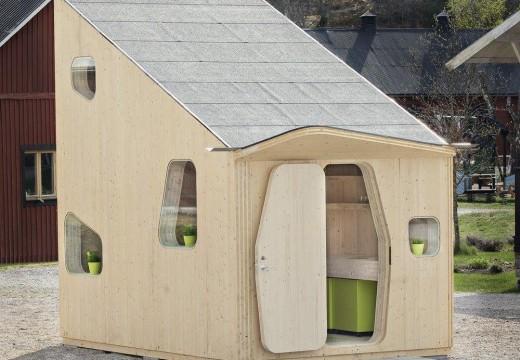 Increíble: Diseñan en Suecia una casa de madera para estudiantes de sólo 10 m2