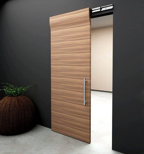 Puertas corredizas de madera madera y construcci nmadera for Puerta corrediza de madera