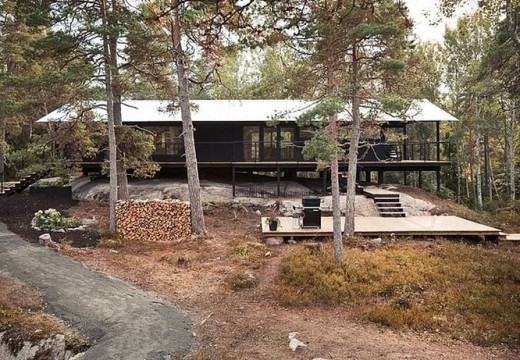 Casa de campo en Suecia: madera, calidez y confort