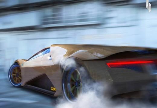 EEUU: Presentan un auto superdeportivo hecho de madera