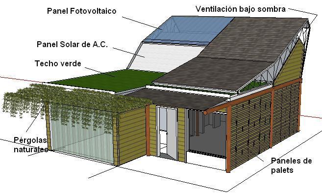 Argentina con madera construyen en misiones una vivienda for Construccion de casas bioclimaticas