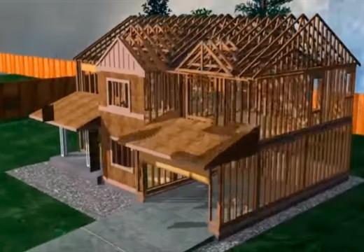 Construcción en seco: en esta animación podes apreciar el sistema constructivo platform frame.
