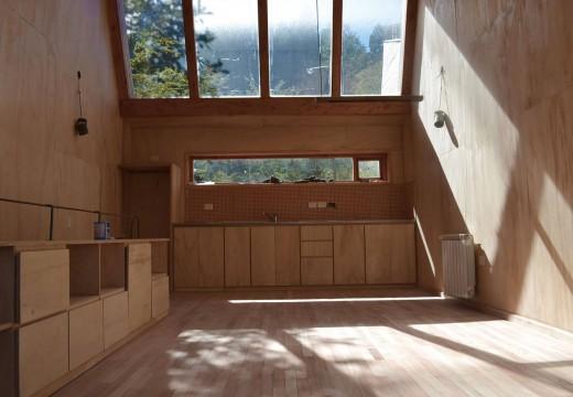 Patagonia argentina: siguiendo la tendencia mundial construyen íntegramente en madera viviendas para conectarse con la naturaleza