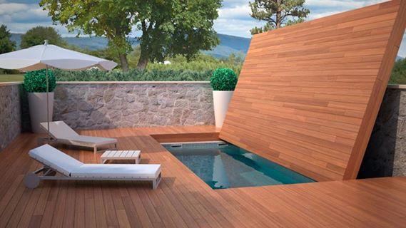 Última tendencia deco: decks retráctiles y móviles para cubrir piscinas