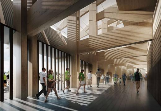 Inglaterra: construyen el primer estadio de futbol sustentable con madera