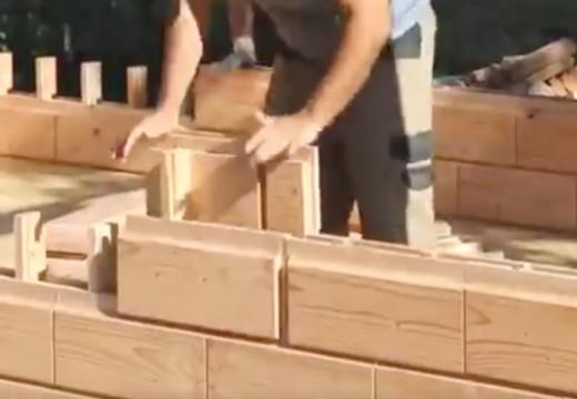 Asombroso sistema de construcción con madera