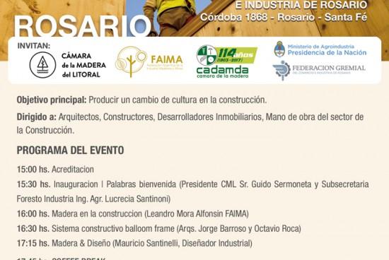 ROSARIO: Programa del Seminario sobre Construcción con Madera y Diseño