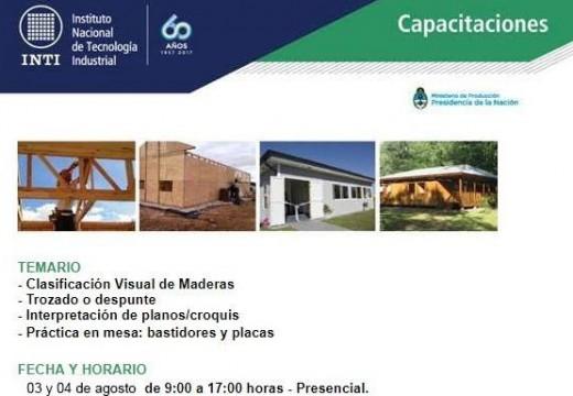 Nuevos Cursos Gratuitos sobre Construcción con Madera en Buenos Aires – INTI Madera y Muebles