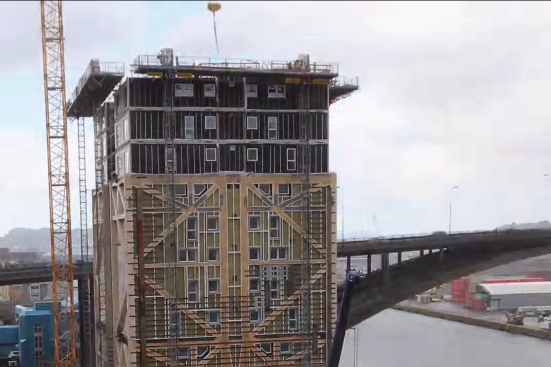Impresionante! Así construyen en solo 15 meses un edificio de 14 ...
