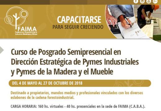 Posgrado Semipresencial en Dirección Estratégica para PyMEs Industriales de la Madera y el Mueble