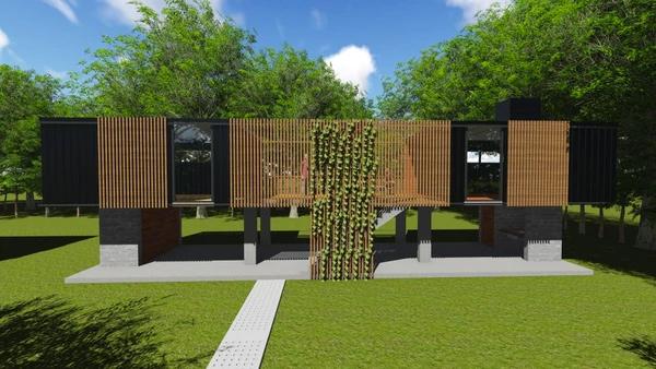 ARGENTINA. Alumnos de la Universidad de Morón diseñan modernas viviendas de madera para familias carencidas de Tigre