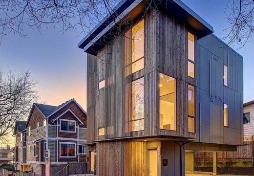 Pequeño edificio de estilo moderno deslumbra en las calles de seattle