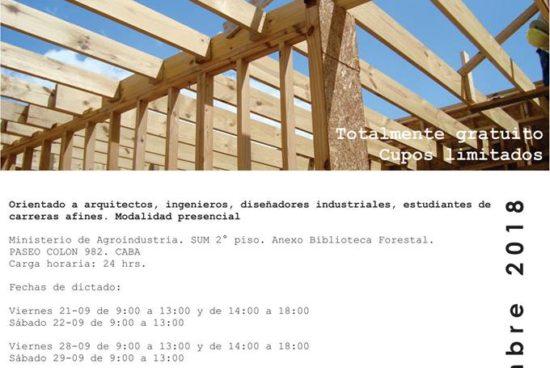 """Curso de Diseño y Construcción en Madera """"Edificios de Baja Complejidad Estructural"""" Gratuito de cupos limitados"""