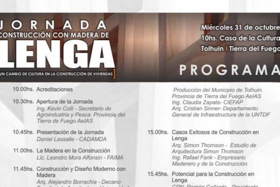 31 de octubre | Jornada de Construcción con Madera de Lenga – Tierra del Fuego