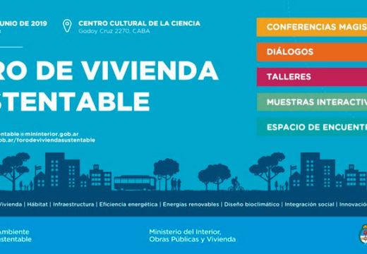 3 y 4 de junio 2019 – Foro de Vivienda Sustentable en Ciudad de Buenos Aires.