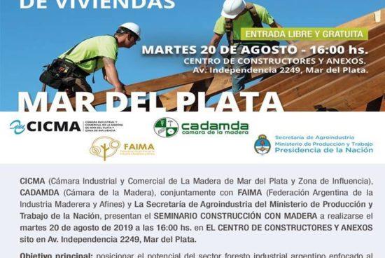 20 de agosto en Mar del Plata – SEMINARIO UN CAMBIO DE CULTURA EN LA CONSTRUCCIÓN DE VIVIENDAS