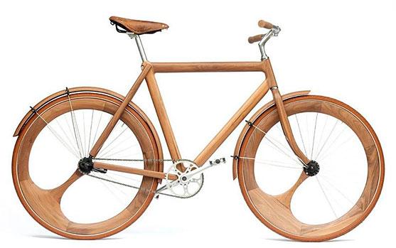Última moda, bicicletas de madera