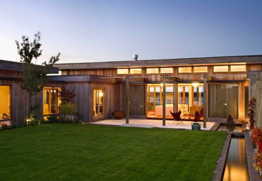 La casa de pino en Nueva Zelanda