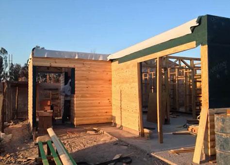 Construcción de vivienda de 125 m2 con sistema Ballon Frame. Mayor eficiencia, mayor sostenibilidad ambiental, gran eficiencia térmica, menor tiempo y costos.