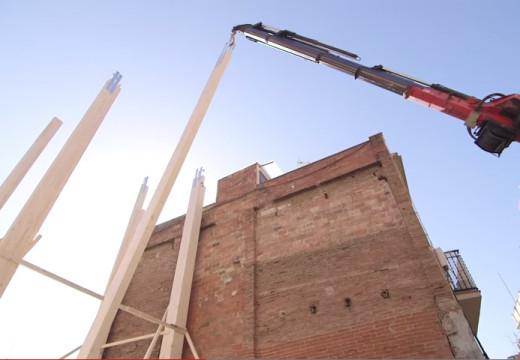 Video corto: así comenzaron a construir el primer edificio de madera en Barcelona