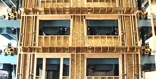 California EE.UU.: conozca el primer laboratorio que mide la resistencia de la estructura de madera a fenómenos climáticos como terremotos y huracanes.