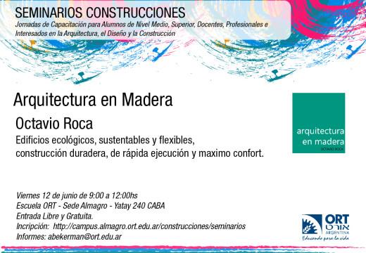 Charla Arquitectura en Madera 12 Junio