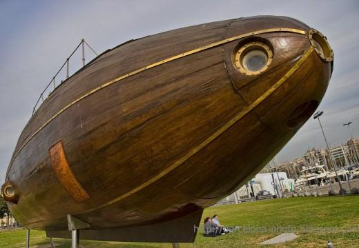 Increíble: el primer submarino se construyó en 1857 con madera