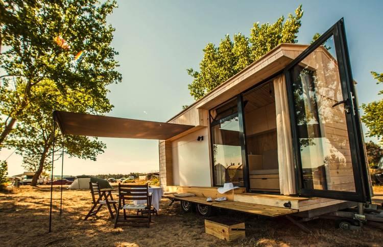 Casa rodante de madera