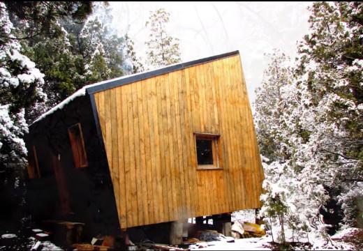 Bariloche Argentina: Construcción de refugio de montaña con sistema de bastidores de madera ballon frame
