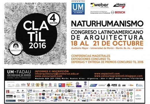 18 al 21/10 – Congreso Latinoamericano de Arquitectura – NATURHUMANISMO