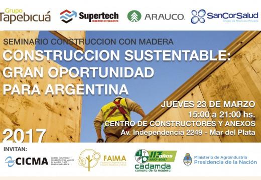 Mar del Plata: Programa Seminario Construcción con Madera – Jueves 23 de marzo