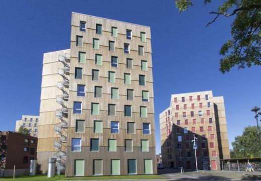 Noruega: presentan torres de madera destinadas a viviendas de estudiantes