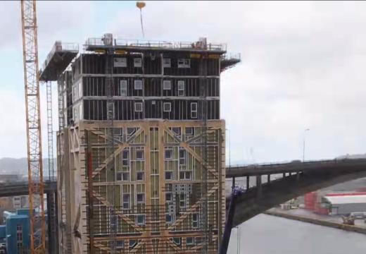 ¡Impresionante! Así construyen en solo 15 meses un edificio de 14 pisos con estructura de madera laminada encolada
