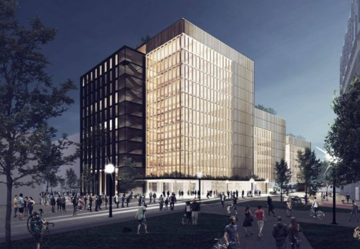 Manhattan sustentable: contratan al reconocido arquitecto Michael Green para construir un complejo de oficinas de hasta 11 pisos con estructura de madera