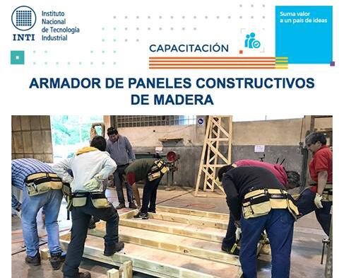 CAPACITACION (INTI Maderas) Armador de paneles constructivos con madera