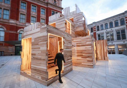 La madera es tendencia. Arquitectos de EEUU sorprenden en el festival de diseño de Londres con un pabellón construido en CLT