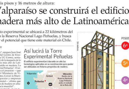 CHILE, inaugura el edificio de madera más alto de américa latina con propiedades antisísmicas