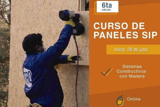 """26 de julio – Nueva edición del Curso """"Paneles SIP – Sistemas Constructivos con Madera"""""""